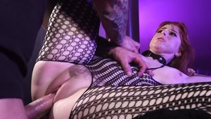 Busty Penny Pax BDSM in fishnets