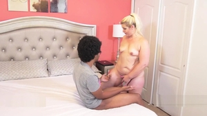 Rough nailing in company with big butt ebony blonde Selah Rain