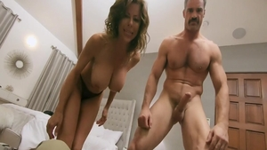 Stepmom Alexis Fawx gets a buzz out of POV nailing on webcam