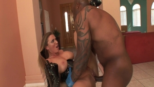 Devon Lee in lingerie interracial pounding
