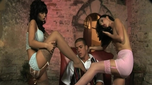 Big tits in tandem with Lulu Martinez pussy eating