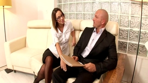 Perfect secretary Jada Stevens needs hardcore sex
