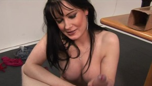 Wanking together with Busty Bri and King Cock