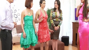 Plowing hard with Tina Hot escorted by Simony Diamond