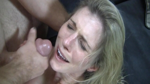 Cumshot together with busty babe Cory Chase