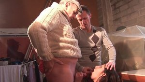 Rough sex in the company of Naked european brunette