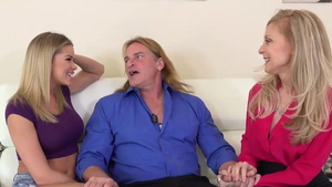 Evan Stone accompanied by Nina Hartley yoga