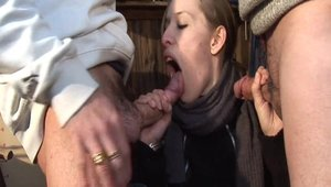 Young french amateur goes for hard pussy sex