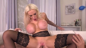 Angel Wicky escorted by big boobs Sophie Anderson