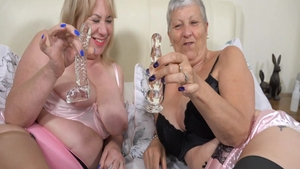 Hard sex together with big boobs lesbian