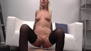 Very sexy big tits amateur POV deepthroat at the castings