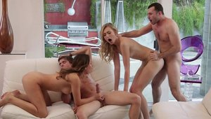 Young babe raw foursome