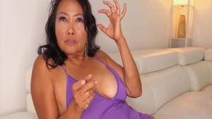 Hairy asian mature receives rough rough sex