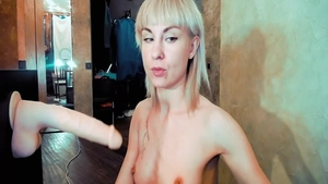 Goes wild on cock on webcam