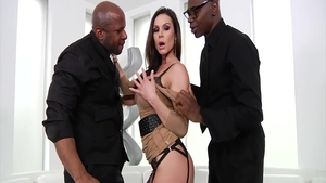 Sex scene accompanied by big boobs stepmom Kendra Lust