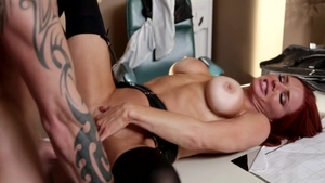 Veronica Avluv with redhead Cody Sky doggy style