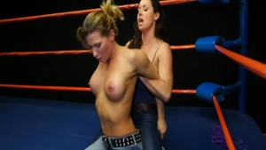 Ariel X in tandem with blonde Christina Carter bondage