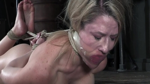 Submissive torture together with busty blonde