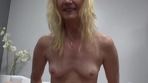 Small tits blonde need good fuck in HD