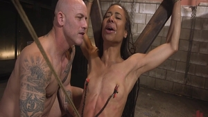 Wild slut Kira Noir crazy BDSM