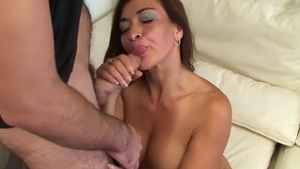 Plowing hard in the company of big boobs european stepmom