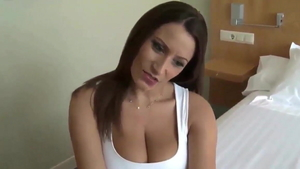Big tits german brunette goes for doggy sex HD