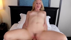 Cock sucking scene alongside small tits hard Riley Reynolds