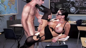 Nailing in company with stepmom Audrey Bitoni