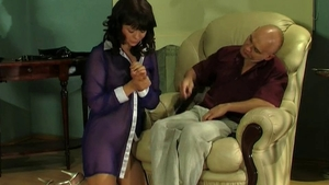 Fetish rough nailing with perfect brunette