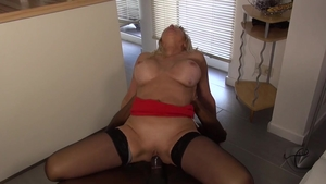 Hard fucking big tits mature in sexy lingerie