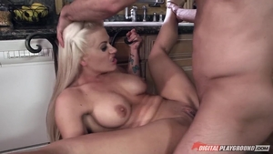 Holly Heart cumshot in the kitchen