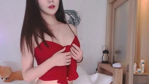 Toys action escorted by huge boobs korean girl