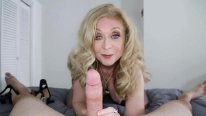 Good fuck sex tape among shaved POV Nina Hartley