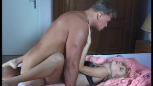 Hairy star private threesome double penetration in HD