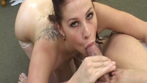Gianna Michaels in sexy stockings oiled cumshot