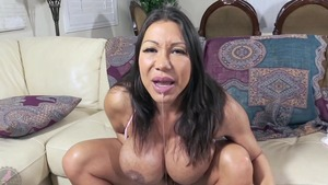 Hard ramming along with busty asian MILF Ava Devine