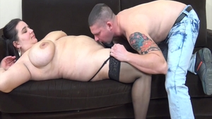 Pussy fuck accompanied by chubby busty hungarian babe