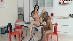 Hard pounding along with super hot german chick