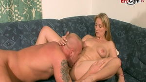Pussy fucking in the company of glamour deutsch girl