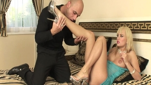 Feet fetish sex tape together with horny hard Blue Angel