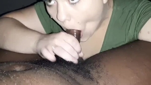 Mature licking big cock
