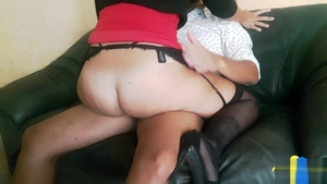 Upskirt pussy sex in the company of big ass amateur