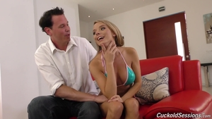 Huge tits blonde rushes pussy fucking HD