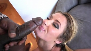 Cumshot in company with big ass blonde Sheena Shaw