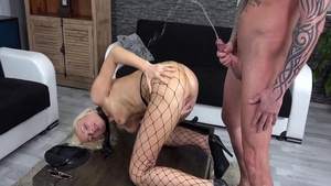 Vanessa Hell in uniform squirts in HD