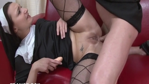 Young petite french priest art handjob HD