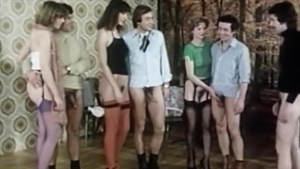 Vintage hairy pussy fucking after classes