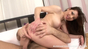 Nailed rough along with wet brunette