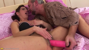 Creampied starring hairy brunette