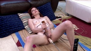 Hairy female fun with toys